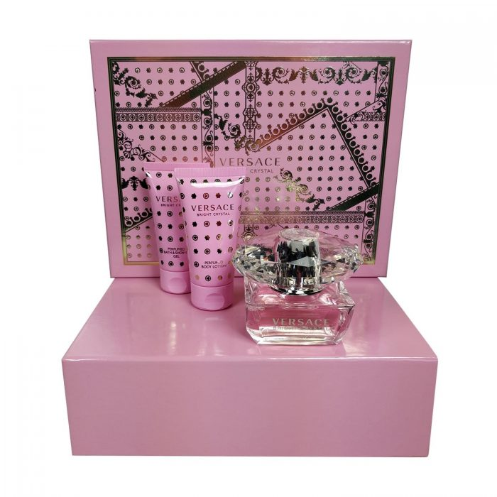 Versace - Bright Crystal 50ml eau de toilette + 50ml Showergel + 50ml Bodylotion Eau de toilette
