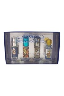 Ed Hardy - Love & Luck 7.5ml edt + Hearts & Daggers 7.5ml edt + Born Wild 7.5ml edt + villain 7.5ml edt Eau de toilette