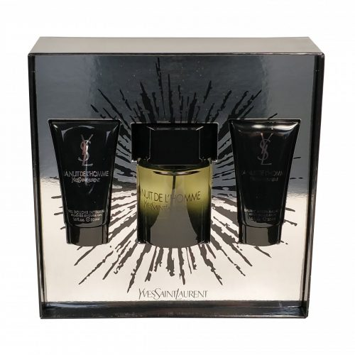 Yves Saint Laurent - La nuit de L'homme 100ml eau de toilette + 50ml aftershave balm + 50ml showergel Eau de toilette