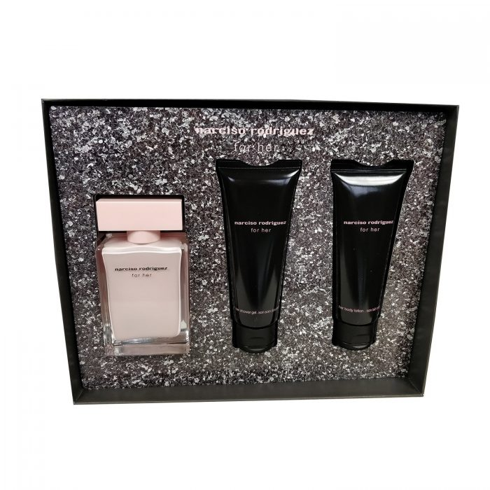 Narciso Rodriguez - For her 50ml eau de parfum + 75ml bodylotion + 75ml showergel Eau de parfum