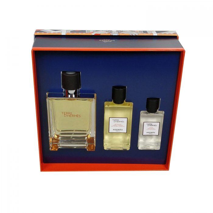 Hermes - Terre de hermes 100ml eau de toilette + 80ml douchegel + 40ml aftershave lotion Eau de toilette