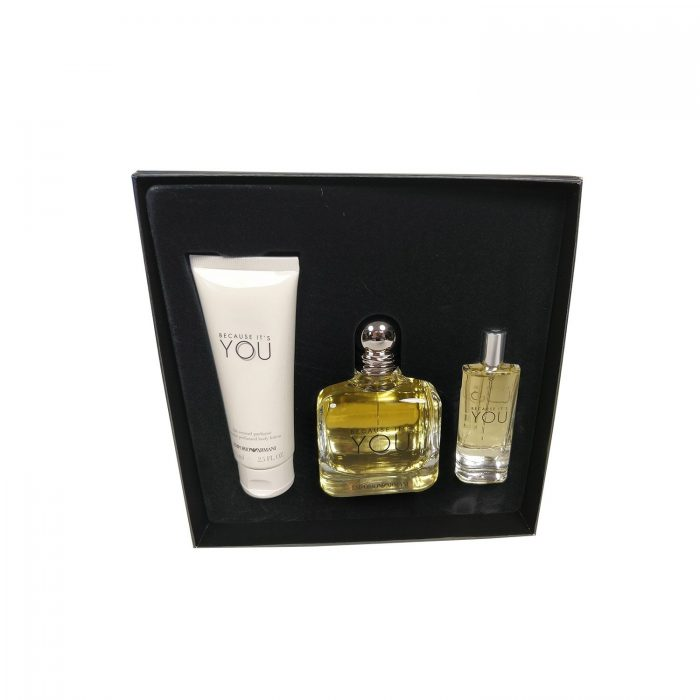 Armani - Because its you 100ml eau de parfum + 15ml eau de parfum + 75ml bodylotion Eau de parfum
