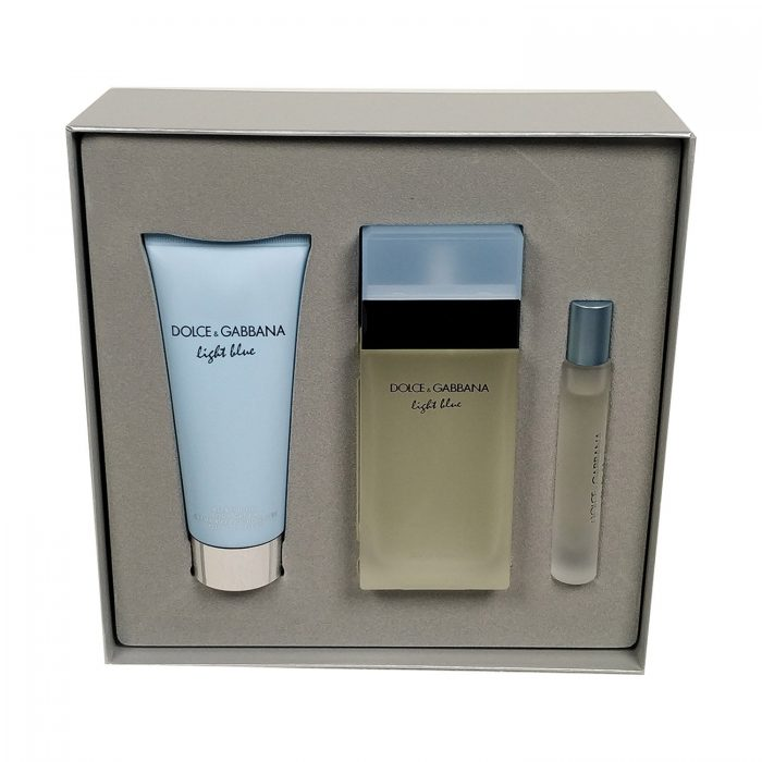Dolce & Gabbana - Light blue 100ml eau de toilette + 100ml bodylotion + 7.4ml roller bal EDT Eau de toilette