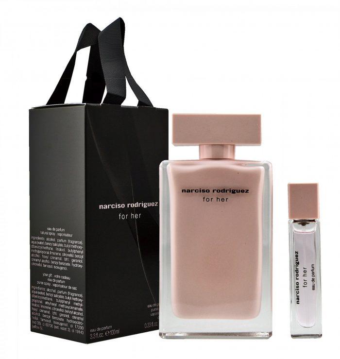 Narciso Rodriguez - For her 100ml eau de parfum + 10ml eau de parfum Eau de parfum