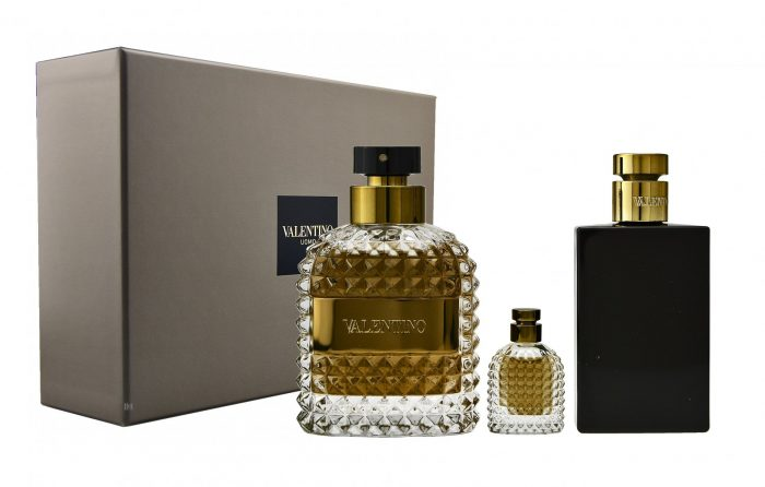 Valentino - Uomo 100ml eau de toilette + 4ml eau de toilette + 100ml aftershavebalsem Eau de toilette