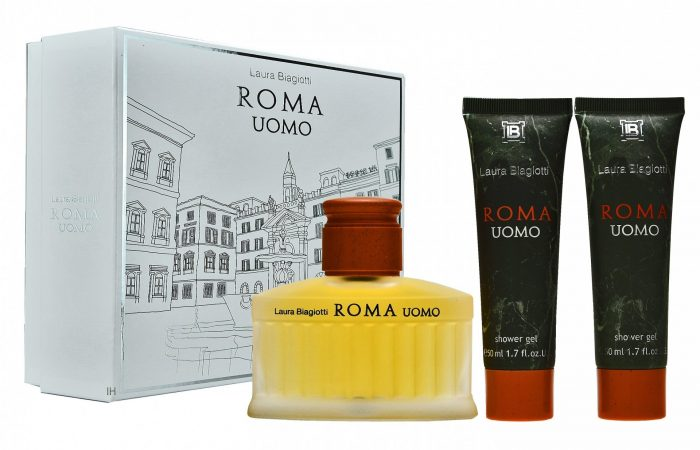 Laura Biagiotti - Roma uomo 75ml eau de toilette + 2x 50ml showergel Eau de toilette