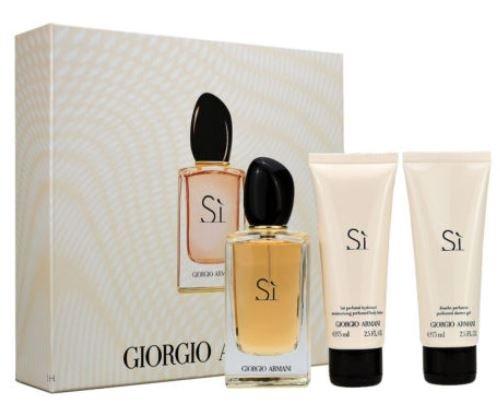 Armani - Si 100ml eau de parfum + 75ml Bodylotion + 75ml Showergel Eau de parfum