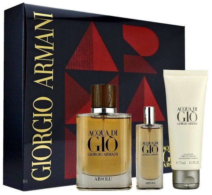 Armani - Acqua di gio Absolu 75ml eau de parfum + 75ml showergel + 15ml eau de parfum Eau de parfum