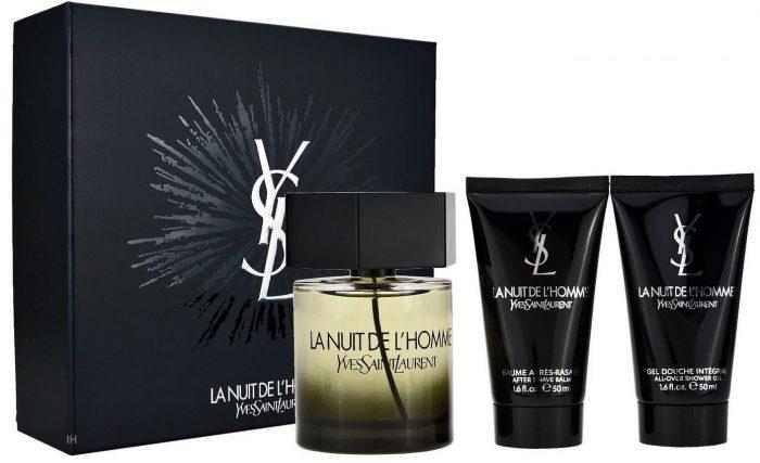 Yves Saint Laurent - La nuit de L'homme 100ml eau de toilette + 50ml aftershave balm + 50ml showergel Eau de toilette