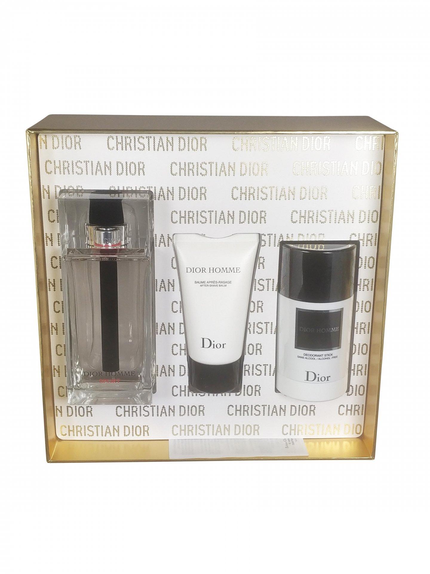 Dior - Homme sport 125ml eau de toilette + 50ml aftershave balm + 75ml deostick Eau de toilette